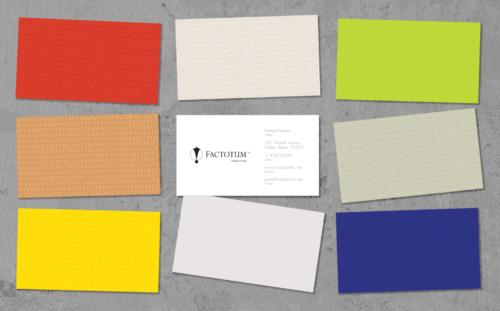 Factotum Authentic Words business cards